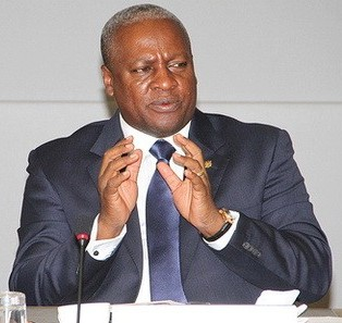Ghana's Pesident John Mahama