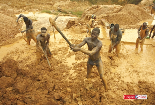Illegal mining in Atiwa led to the pollution of many water bodies