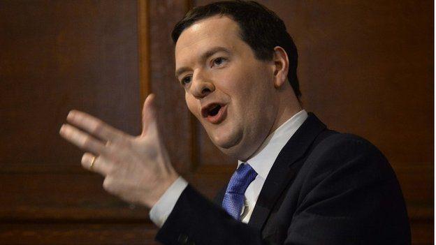 Mr Osborne stuck to his public spending cuts despite criticism from the IMF