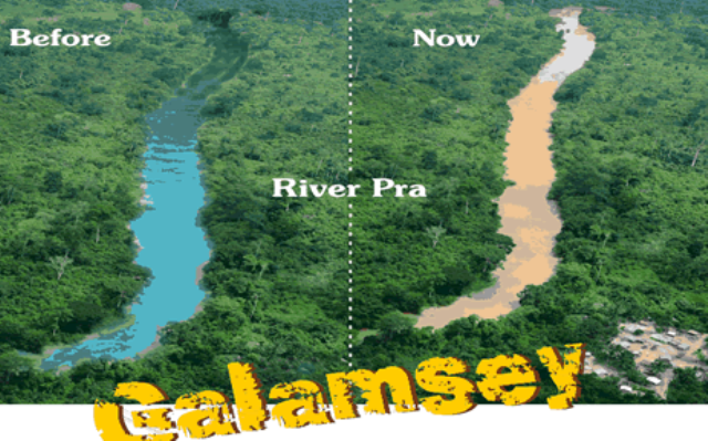 galamsey river