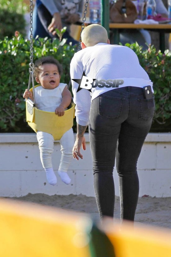 *EXCLUSIVE* Amber Rose and Sebastian Taylor spend some bonding time together