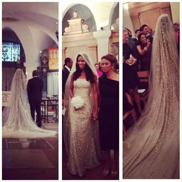 Ashley Shaw Scott - David Adjaye wife- married - bride