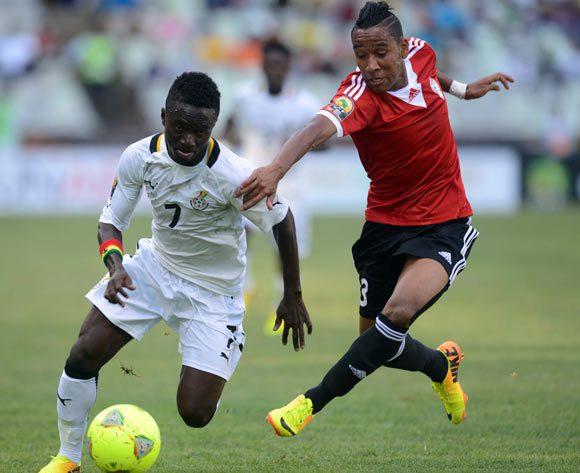 Richard Mpong in action for Ghana against Libya.
