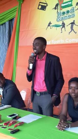 Jay Foley, Station Manager of YFM addressing the press at the launch of YFM Sports Hood Games