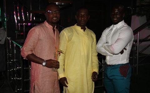 Left: Kofi Okyere Darko, Kennedy Capuccino, Stephen Appiah