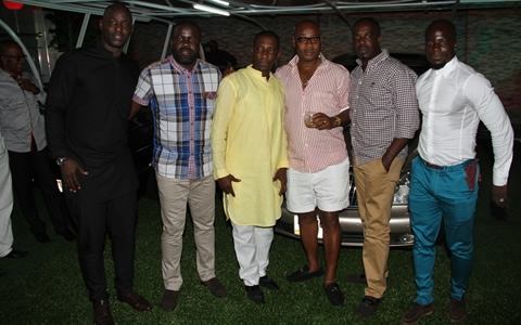 Kennedy Agyepong and Tony Baffoe, Sammy Kuffour, Stephen Appiah and friends
