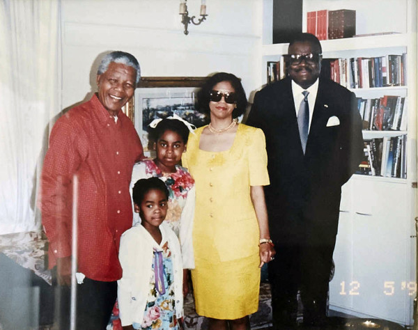 Fernandez Family with Icon Nelson Mandela