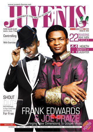FRANK EDWARDS & JOE PRAIZE ON THE COVER OF JUVENIS