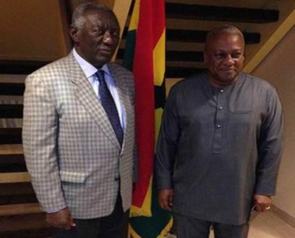 Former President Kufuor And President John Dramani Mahama