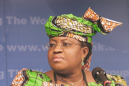 "Finance Minister Ngozi Okonjo-Iweala says ""nobody but us Nigerians"" can stop the corruption"