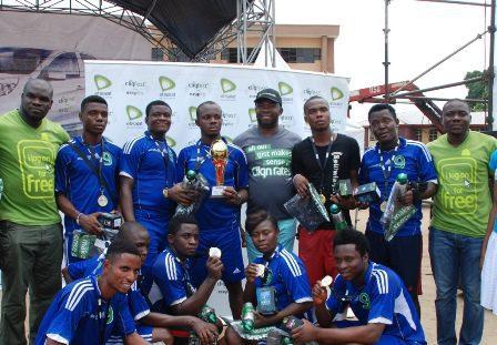 (L-R): Winning team during their prize presentation