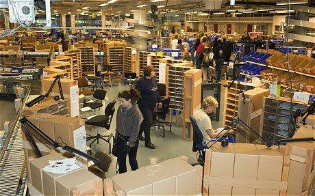 The sorting office in Helsinki.