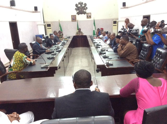 Committee Members interact with Gov. Obiano