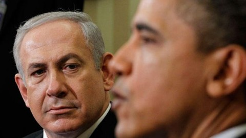 Photo shows Israeli Prime Minister Benjamin Netanyahu (L) and US President Barack Obama.