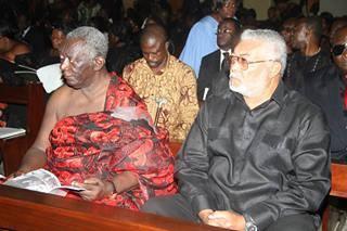 Former Presidents John Kufuor and Jerry John Mahama
