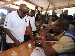 John Mahama casting his Ballots during the 2012 General Elections