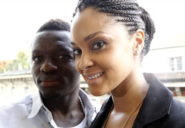 Sulley Muntari with wife Menaye