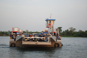 The ferry at mid waters