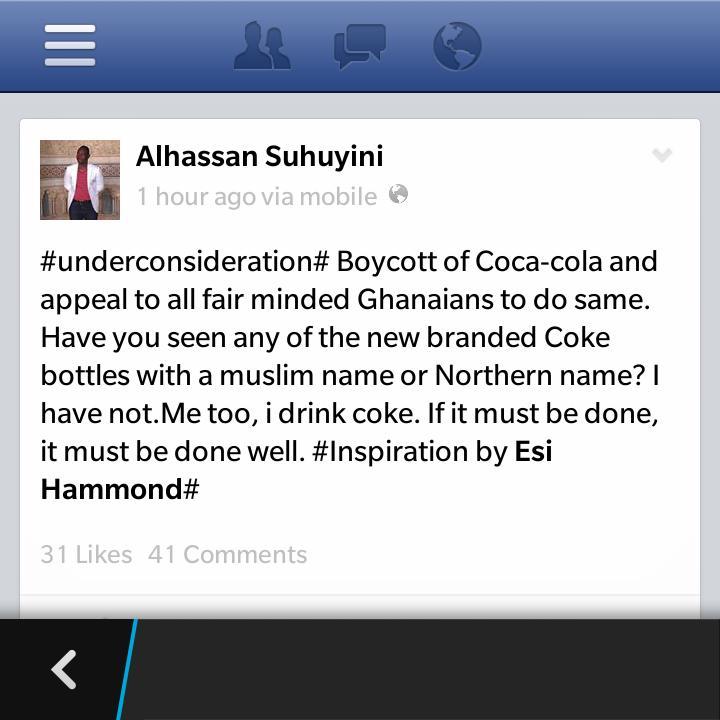 coca cola boycott ghana