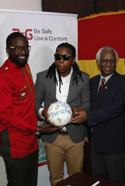 Elikem (Left), Edem, second from Right, with Mr. Haile