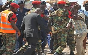 Ghanaian army beat up presidential journalist