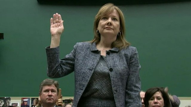 """General Motors chief executive Mary Barra says """"today's GM will do the right thing"""", as Michelle Fleury reports"""