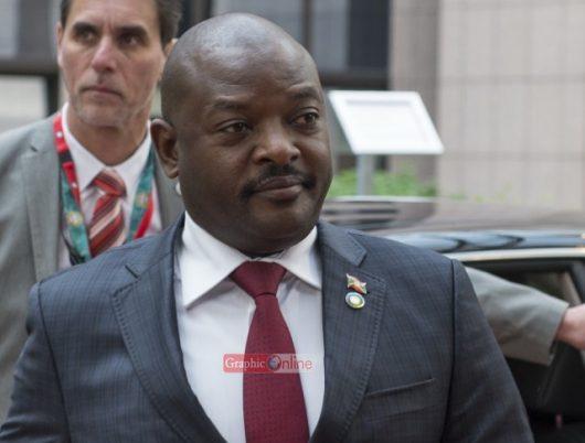 Pierre NKurunziza, President of Burundi arriving for the summit