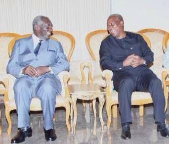 Former President John Agyakum Kufuor and President John Mahama
