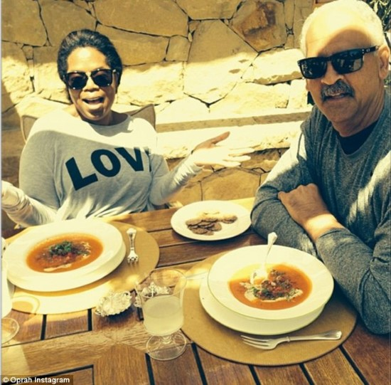 Oprah Winfrey and her partner Stedman Graham