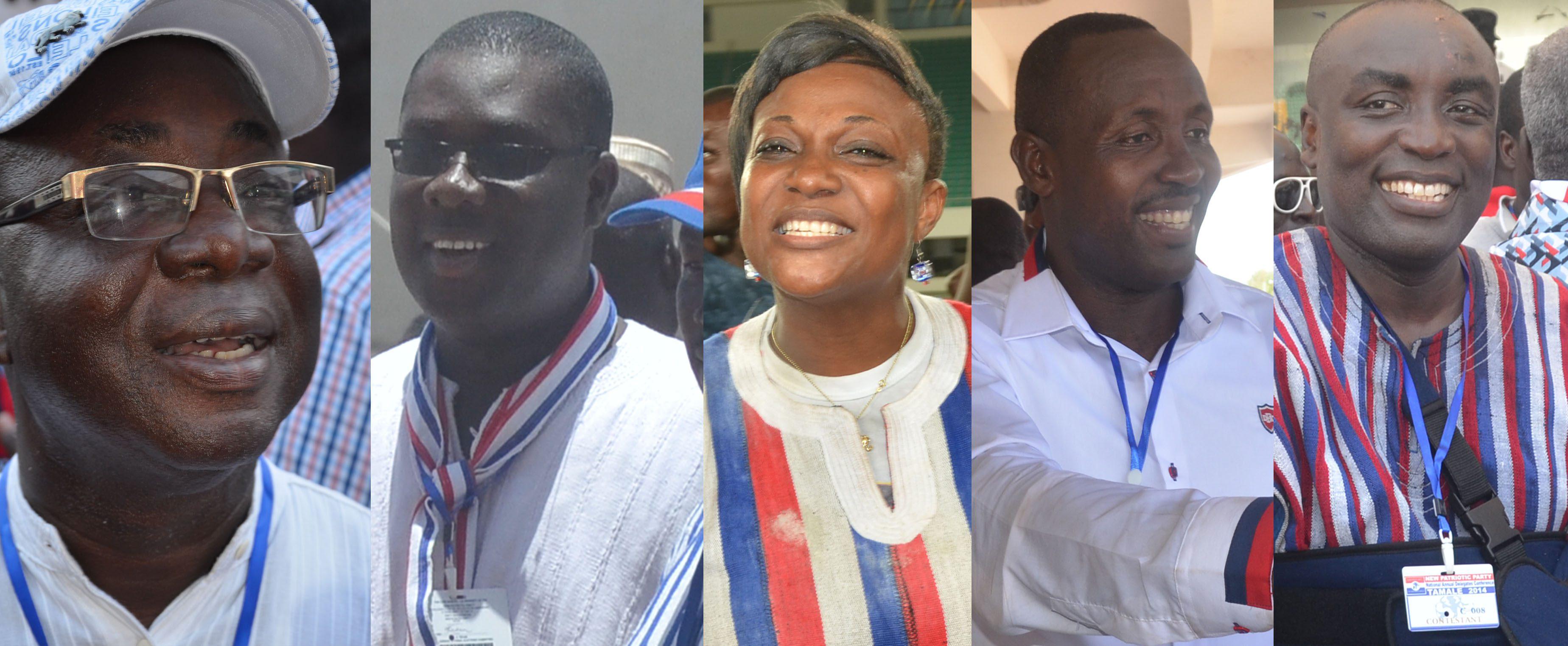 Freddie Blay, Sammi Awuku, Otiko Afisa Djaba, John Buadu and Kwabena Agyepong