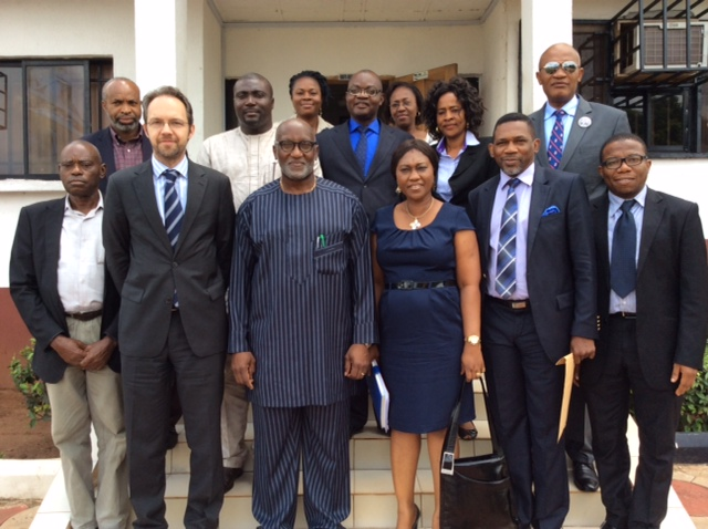 Dr. Christian Rogg of DFID and SSG Oseloka Obaze with DFID and ANSG Teams