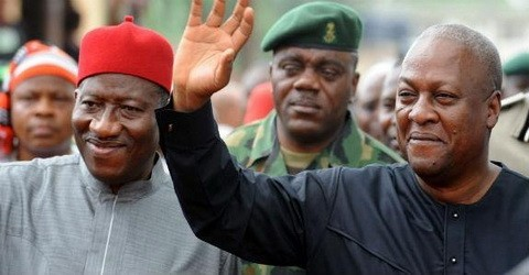 President Goodluck Jonathan And?President John Mahama