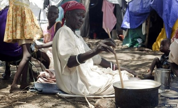 The conflict in South Sudan has left people with little access to food