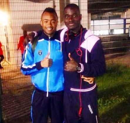 Jonathan Mensah with Jordan Ayew after the game