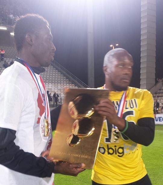 Kwame Nsor with his team-mate