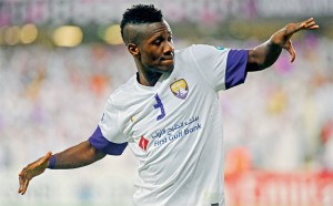 Ghana and Al Ain striker Asamoah Gyan is looking forward to Thursday night's friendly English champions Manchester City, hoping that his excellent showing in the match will firmly establish his credentials.