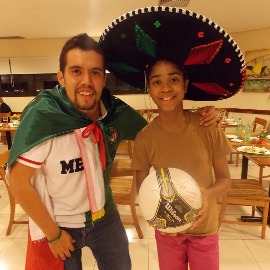 With A Mexicao fan in Sao Paulo