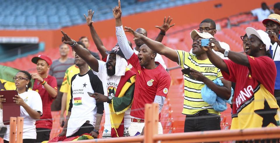 Crazy Ghana soccer fans