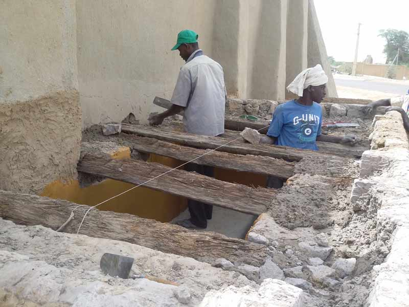 Reconstruction work, Timbuktu (Mali). Photo: UNESCO