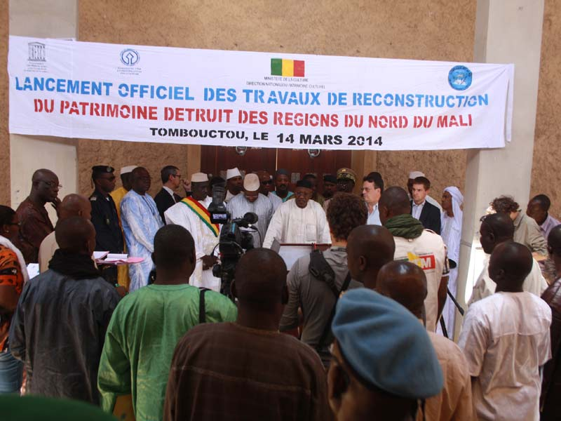 Official launch of reconstruction of World Heritage mausoleums in Timbuktu (Mali). Photo: MINUSMA/Marco Domino