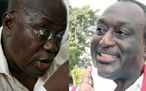 Alan Kyeremateng (right) and Nana Akufo-Addo (left)