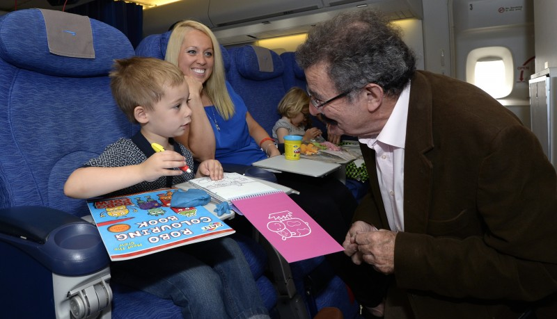 Archie Sturt, 3, Nicola Sturt and Lord Robert Winston  (British Airways -David Dyson)