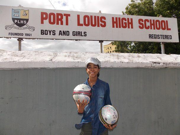 At Port Louis High School MAURITIUS