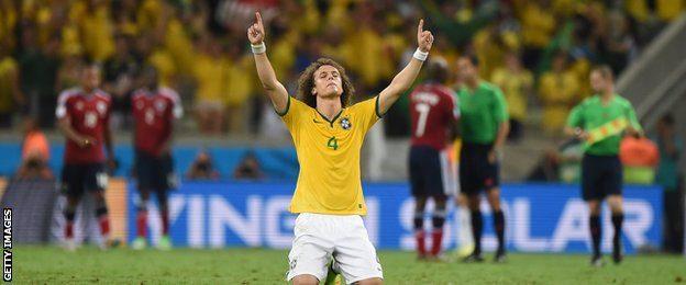 David Luiz's winning free-kick sent Brazil through to the semi-finals