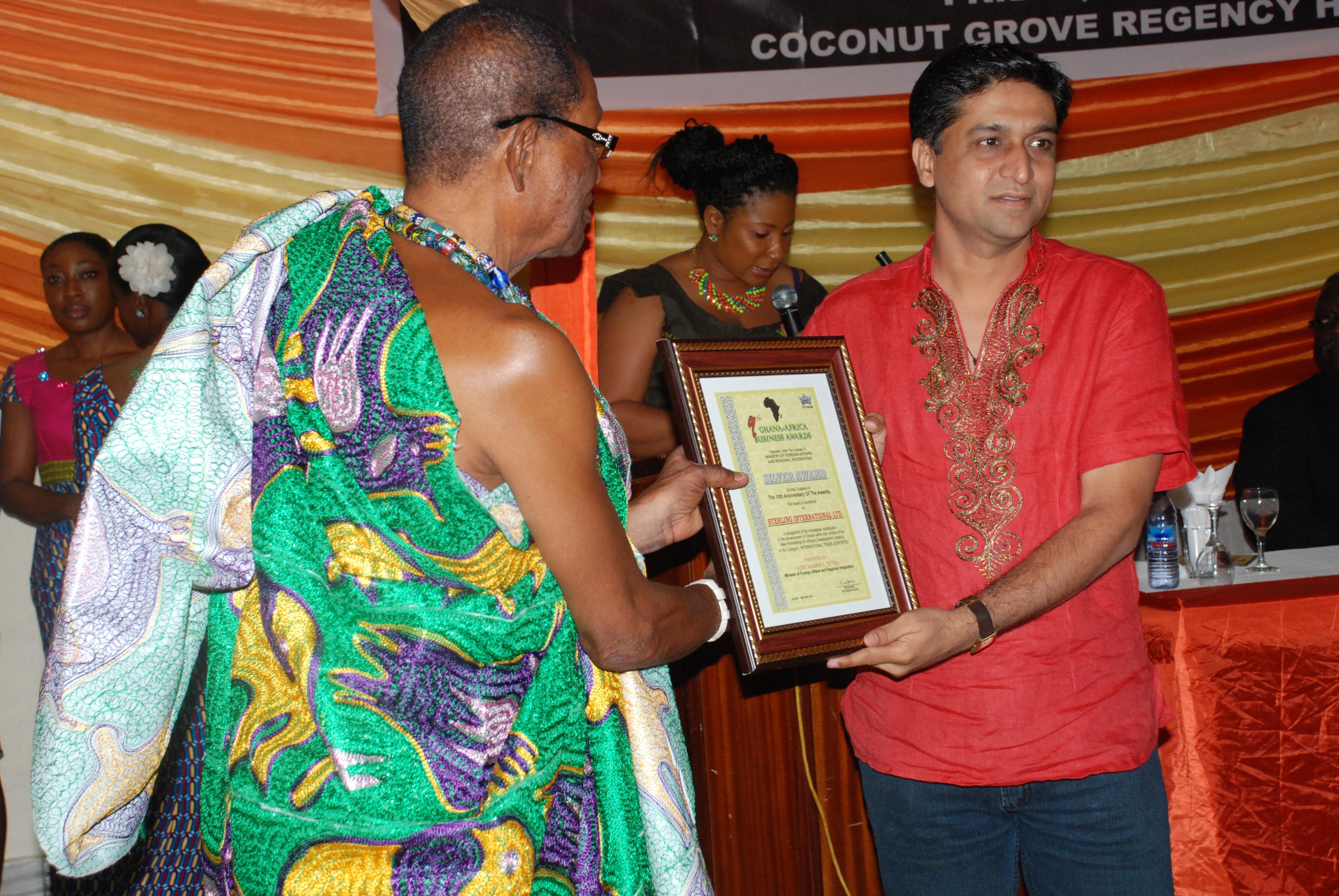 Mr. Arun Patil(right) Director of Sterling International Ltd, receiving the award