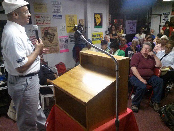 a Rev. Pinkney at Moratorium NOW! meeting, June 23, 2014
