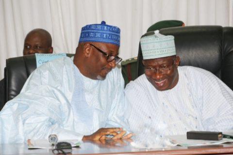 PDP Chairman with President Jonathan