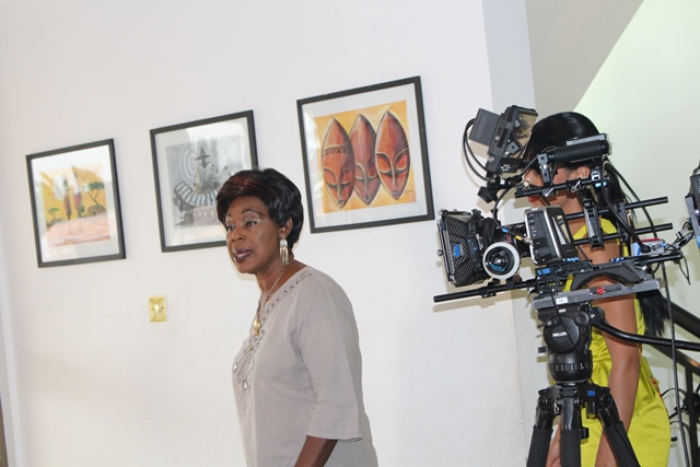 Grace Omaboe aka Maame Dokono getting ready for the camera