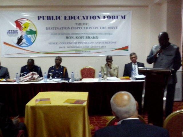 Hon. Kofi Brako addressing the forum