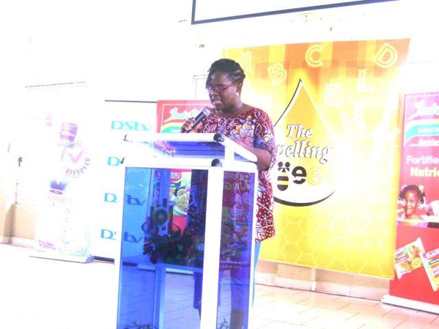 Madam Eugenia Tachie-Menson giving a welcome address.
